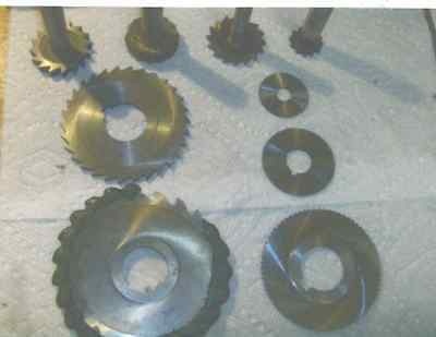 9 Slotting Cutters, And Woodruff Cutters Various Sizes