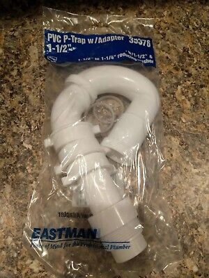 """EASTMAN 1-1/2"""" P-Trap Plastic NEW with reducing washer #35376"""