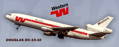 Western Airlines DC-10 Handmade Photo Magnet (PMT1689)