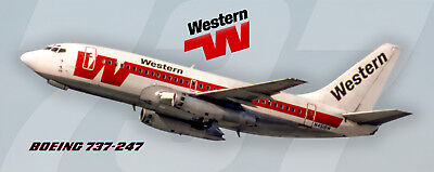Western Airlines Boeing 737-247 Photo Magnet (PMT1690)