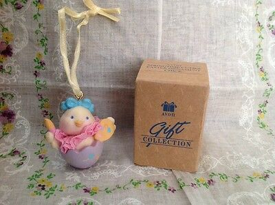 Avon Easter Springtime Cuties Baby Chick Ornament EUC in Original Box Collect