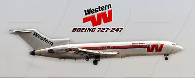 Western Airlines Boeing 727-247 Photo Magnet (PMT1691)