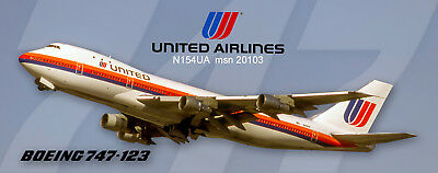 United Airlines Boeing 747-123 Photo Magnet (PMT1684)