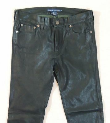 $1,298 Ralph Lauren Leather Jodhpur Equestrian Holiday Leggings Polo Pants 8 M