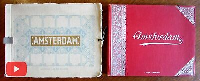 Amsterdam Netherlands Holland c. 1910 era pair city view books souvenirs