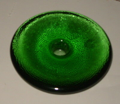 iittala  nappi Candle Holder Green Scandinavian Finland Art Glass Markku Salo
