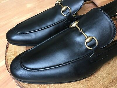 f95973dce94 Gucci  Jordaan  Horse Bit Loafer Men s Black Leather Size 13 UK   13.5 US