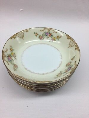 7 Great Vintage MEITO China Hand painted Japan Berry Bowls 5 1/4""