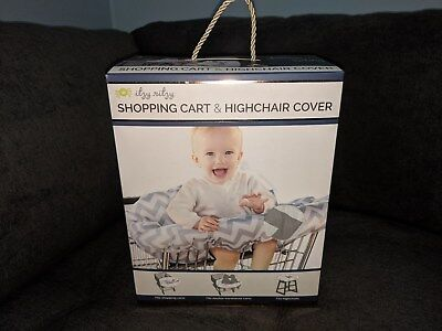 Itzy Ritzy Sitzy Shopping Cart & High Chair Cover Grey Chevron NIB Unopened