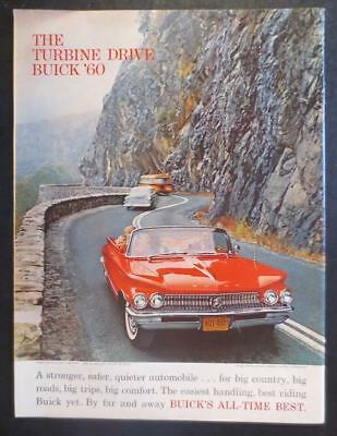 1960 Buick Turbine Drive Magazine Ad Bright Red