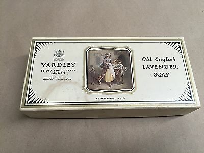 Vintage Yardley Old English Lavender Soap Ad Litho Paper Box, Box Only  , London
