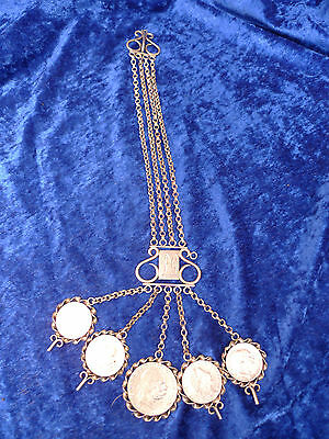 Beautiful,Old Costume Necklace __ Charivari__5 Coins 1860 1913__Österreich
