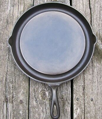 Vtg Wagner Ware Sidney ~0~ Cast Iron Greaseless Frying Skillet Cleaned VGUC NICE