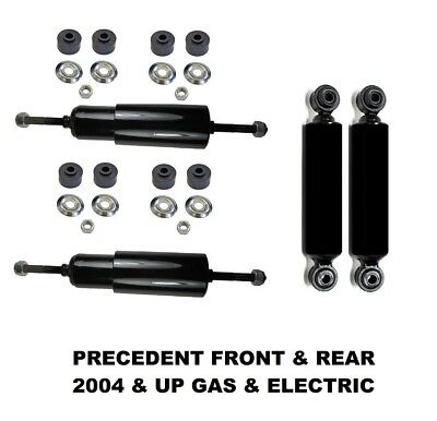 Club Car Precedent Front and Rear Shock Absorbers Fit 2004-up G&E Golf Carts 4PK