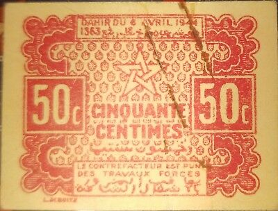 Morocco Emergency Issue 1944 50 centimes