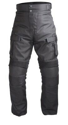 Men Motorcycle OverPants Black with Removable CE Armor OP-2