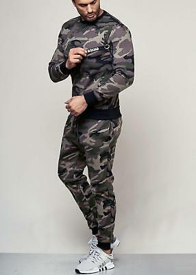 Men's Camouflage Trackies Blue Jogging Suit 62 Grey Tracksuit Trackies