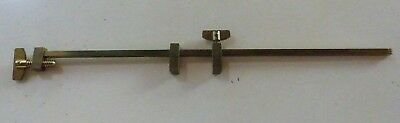 """Solid Brass Clamp Tool Vintage - 12"""" Clock Repair Carpentry Old Stock Vise"""