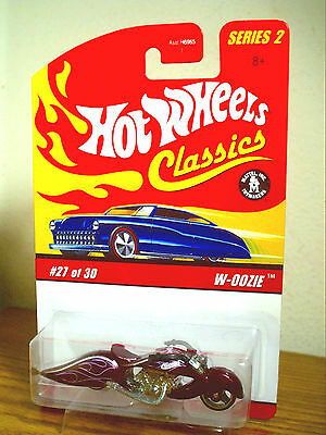 Hot Wheels Classics W-Oozie Motorcycle Purple Spectraflame Limited Rare Mip!