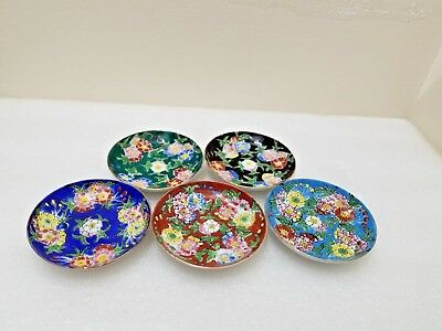 Vintage Small Hand Painted Porcelain Signed Blue Chinese Dish Bowl 3.5''