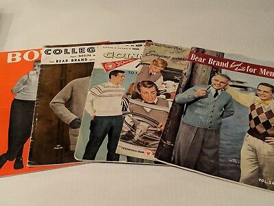 5 Hard To Find Vintage Sweater / Hand Knits / Fashion Catalogs! Ohio State USC