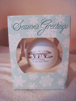 Snow Hill, MD. 1990 Souvenir Christmas Ornament - The Old Train Station - in Box