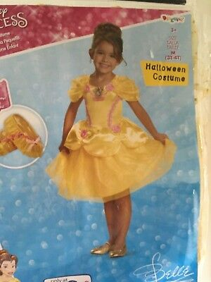New Disney Princess Belle Halloween Costume girls size 3T 4T Shoe Cover Deluxe