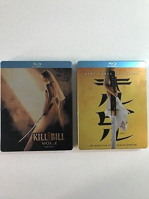 Lot Of 2 Blu Ray Steelbooks Kill Bill Vol. 1 & 2 Rare