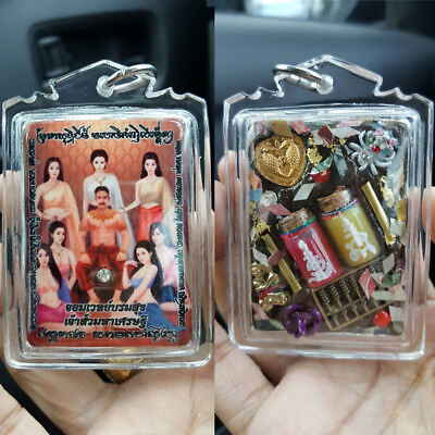 Real YotKhunphon AJ O Thai Amulet Luck Love Charm attract Talisman FREE NECKLACE