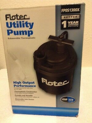 New Flotec  Water Removal Utility Pump 1/6 HP, 1470 GPH