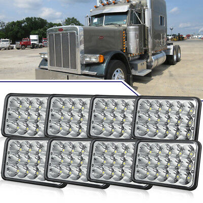 "4 Pairs 4x6""inch Rectangle Led Headlight Hi-Lo Seal Beam for Peterbilt Kenworth"