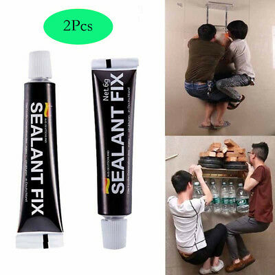 2Pcs Glass Glue Polymer Metal Adhesive Sealant Fix Waterproof Quick Drying Glue
