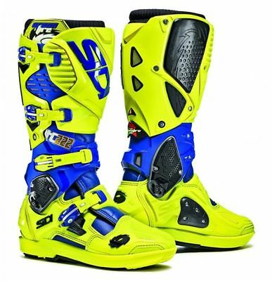 Sidi Crossfire3 SRS Boots - TC222 Cairoli FLO YELLOW /BLUE SIZE EU 44 UK 9,5