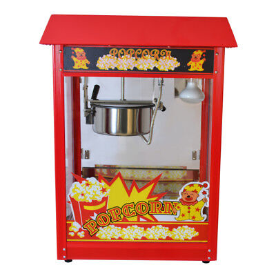 Machine A Popcorn Professionnelle 1600 Watt Pop-Corn Rouge