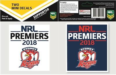 Sydney Roosters NRL 2018 Premiers Mini Premiership Decal Stickers