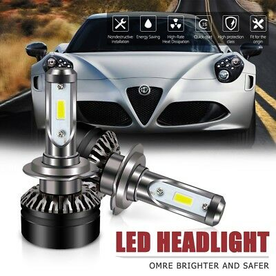 2X H7Led Headlight Bulbs 6000LM 6500K DOT All-in-One Conversion Kit For Hyundai