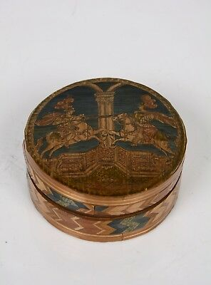 Box in straw marquetry, Germany, 18th century.