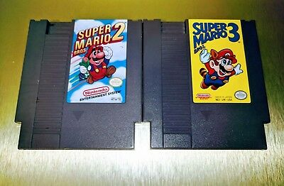 Super Mario Bros. 2 + 3 Lot ☆☆ Authentic, Tested ☆☆ - NES Nintendo [S]