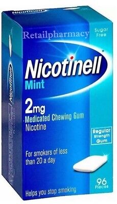 Nicotinell Mint Gum 2mg Pack of 96 Gums (Buy more save more) 1  2  3  6  12