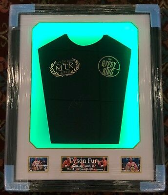Framed Tyson Fury Hand Signed Official Gypsy King T Shirt RARE COA