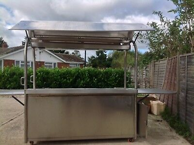 Garden Bar Stainless Steel Coffee Cart Mobile Kiosk Pub Hire 4m Wide 2.4 Tall