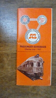 Seaboard Air Line RR July 1,1967 Railroad Timetable - *CLOSEOUTS*