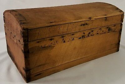 Antique-Wooden Chest-Otto N Breeden-New Marion, IN-May 5, 1867