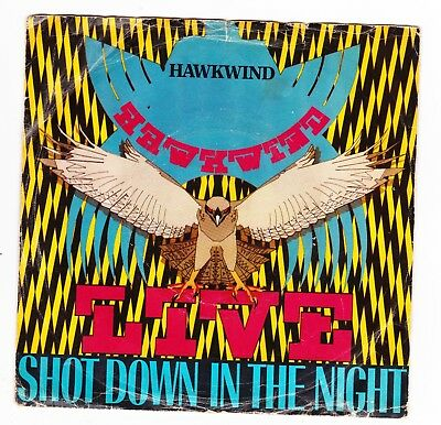 "Hawkwind: Shot Down In The Night//urban Guerilla  1980  P/s 7"" Ex+/ex"