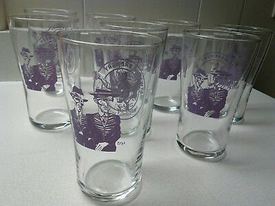 Atwater Brewery Set 8 Pilsner Glasses Purple Gang Detroit