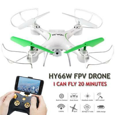 HY66W Dron 20 Minutes Flying Selfie Drone with Camera HD Quadrocopter FPV Q