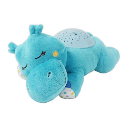 Slumber Buddy Hippo Baby Nursery Cot Mobile Musical Starlight Projector Lullaby
