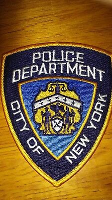 """Police Department City of New York Cloth Patch 4"""" New"""