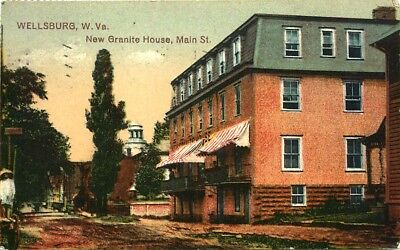 "Wellsburg, West Virginia, 3 Different Mini 2"" X 4"" Vintage Postcards"