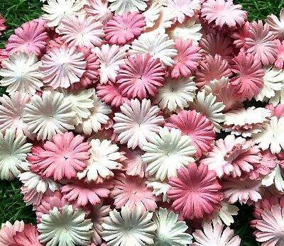50 Pcs. Mixed Pastel Color Flowers mulberry paper for Scrapbooking & Paper Craf